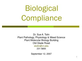 Biological Compliance