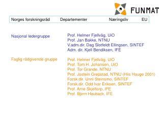 Norges forskningsrådDepartementerNæringsliv EU