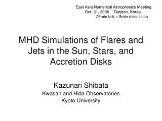 MHD Simulations of Flares and Jets in the Sun, Stars, and Accretion Disks