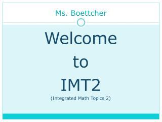 Ms. Boettcher