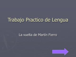 Trabajo Practico de Lengua