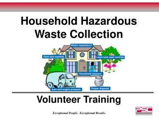 Household Hazardous Waste Collection  Volunteer Training