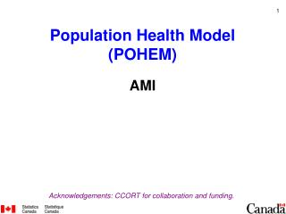 Population Health Model (POHEM) AMI