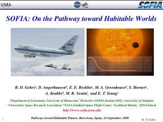 SOFIA: On the Pathway toward Habitable Worlds