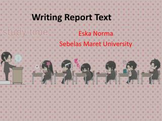 Writing Report  T ext