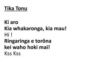 Tika Tonu