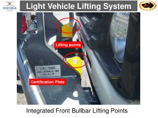 Integrated Front Bullbar Lifting Points