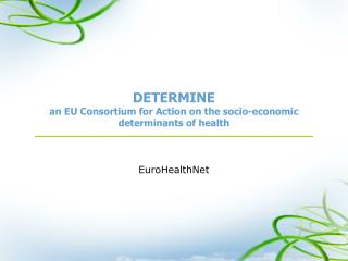 DETERMINE an EU Consortium for Action on the socio-economic determinants of health
