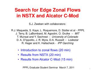 Search for Edge Zonal Flows  in NSTX and  Alcator  C-Mod