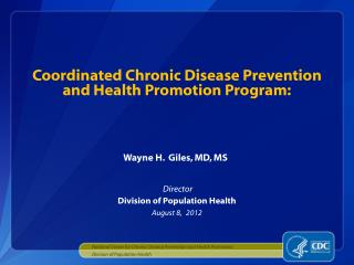 Coordinated Chronic Disease Prevention and Health Promotion Program: