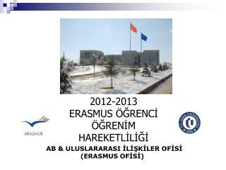 AB & ULUSLARARASI İLİŞKİLER OFİSİ                  (ERASMUS OFİSİ)