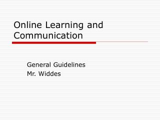 Online Learning and Communication