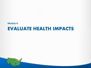 Evaluate Health Impacts