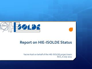 Report on HIE-ISOLDE Status