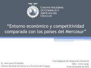�Entorno econ�mico y competitividad comparada con los pa�ses del Mercosur�