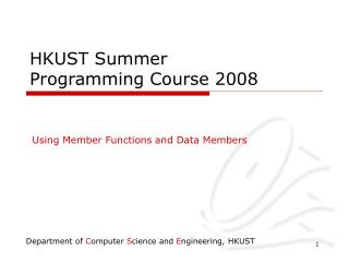 HKUST Summer Programming Course 2008