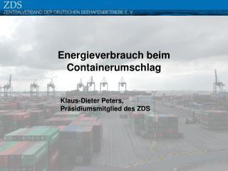 Energieverbrauch beim Containerumschlag