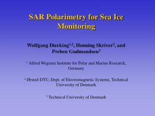 SAR Polarimetry for Sea Ice Monitoring