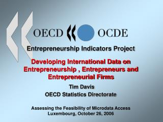 OECD Entrepreneurship Indicators Project