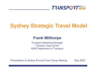 Sydney Strategic Travel Model