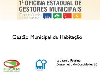 Gestão Municipal da Habitação