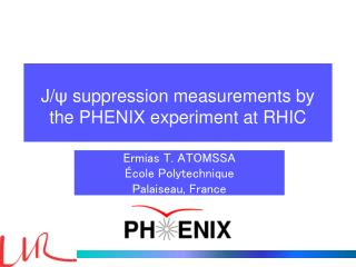 J/ ?  suppression measurements by the PHENIX experiment at RHIC