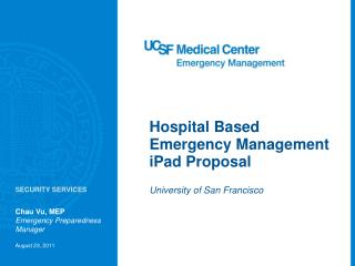 Hospital Based Emergency Management iPad Proposal