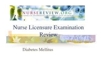 Nurse Licensure Examination Review