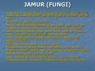 JAMUR (FUNGI)