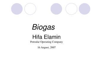 Hifa Elamin Petrodar Operating Company 16 August, 2007
