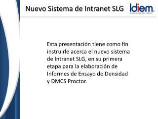 Nuevo Sistema de Intranet SLG