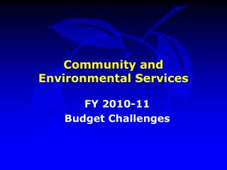 Community and Environmental Services