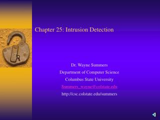 Chapter 25: Intrusion Detection
