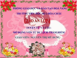 PHÒNG GIÁO DỤC VÀ ĐÀO TẠO HOÀ VANG