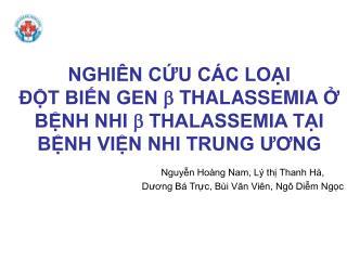 Nguyễn Hoàng Nam, Lý thị Thanh Hà, Dương Bá Trực, Bùi Văn Viên, Ngô Diễm Ngọc
