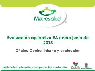 Evaluación aplicativo EA enero junio de  2013 Oficina Control Interno y evaluación