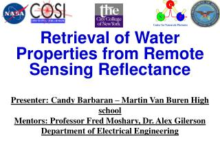 Retrieval of Water Properties from Remote Sensing Reflectance