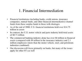 1. Financial Intermediation