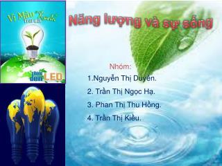 Nhóm :  1.Nguyễn  Thị Duyên . 2.  Trần Thị Ngọc Hạ . 3.  Phan Thị  Thu  Hồng . 4.  Trần Thị Kiều .