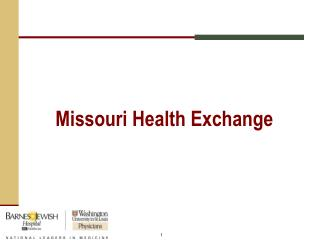 Missouri Health Exchange