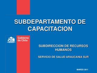SUBDEPARTAMENTO DE CAPACITACION