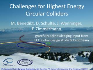 Challenges for Highest Energy Circular Colliders