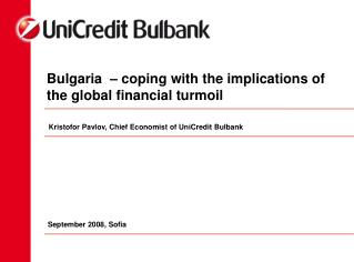Bulgaria  – coping with the implications of the global financial turmoil