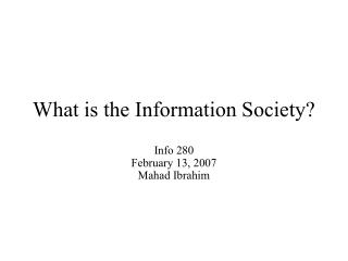 I. ICT and Society