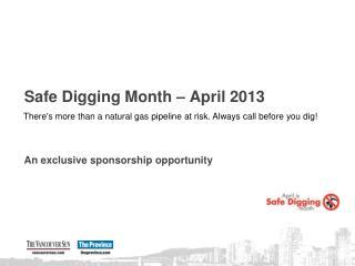 Safe Digging Month – April 2013