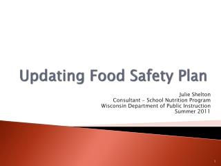 Updating Food Safety Plan