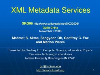 XML Metadata Services