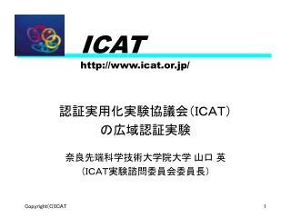 ICAT icat.or.jp/