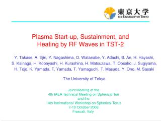 Plasma Start-up, Sustainment, and  Heating by RF Waves in TST-2