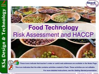 Food Technology Risk Assessment and HACCP